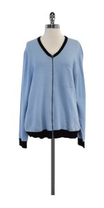 Opening Ceremony Light Blue Wool Cashmere Zip Sweater