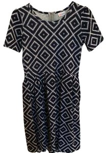 LuLaRoe short dress navy white on Tradesy