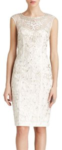 Sue Wong Embroidered Sequin Sheath Dress