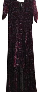 Purple and Black Maxi Dress by Express