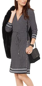 Michael Kors Print Kors Houndstooth Wrap Dress