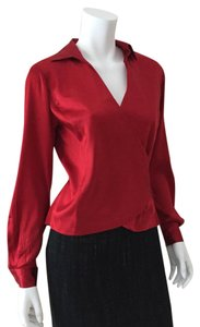 Ann Taylor Top Ruby Red
