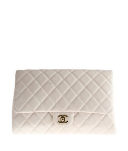 Chanel Cc Quilted Pink Clutch