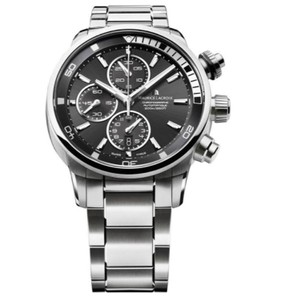 Maurice Lacroix Maurice Lacroix Pontos Automatic Chronograph Black Dial Automatic Men's Stainless Steel Watch