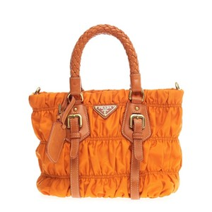 Prada Nylon Tote in Orange