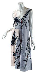 Marni short dress Grey, Pink w/multi color Multi Poplin A-line on Tradesy