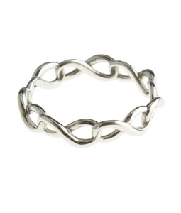 Tiffany & Co. Tiffany & Co. Sterling Silver Infinity Ring, Size 4.5 (111160)