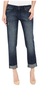 DL1961 Denim Distressed Boyfriend Cut Jeans-Medium Wash