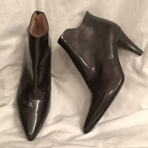 Aquatalia by Marvin K. Patent Leather Leather Black Jet Boots