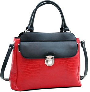 Other Classic The Treasured Hippie Vintage Large Handbags Satchel in Red