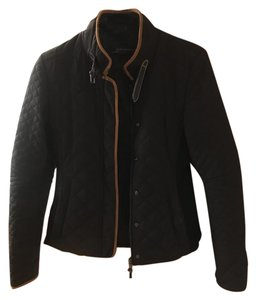 Zara Zarawoman Chic Black with brown lining Jacket