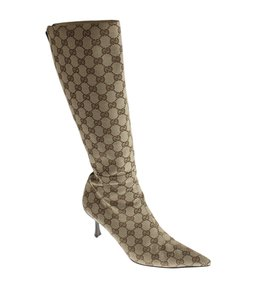 Gucci Mid-calf Heels Brown Boots