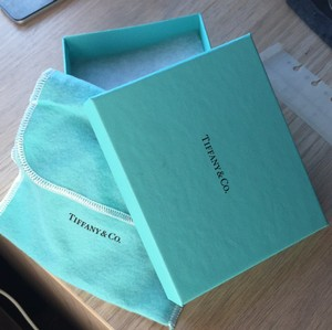 Authentic Tiffany & Co. Blue Box With Ribbon And Folding Pouch