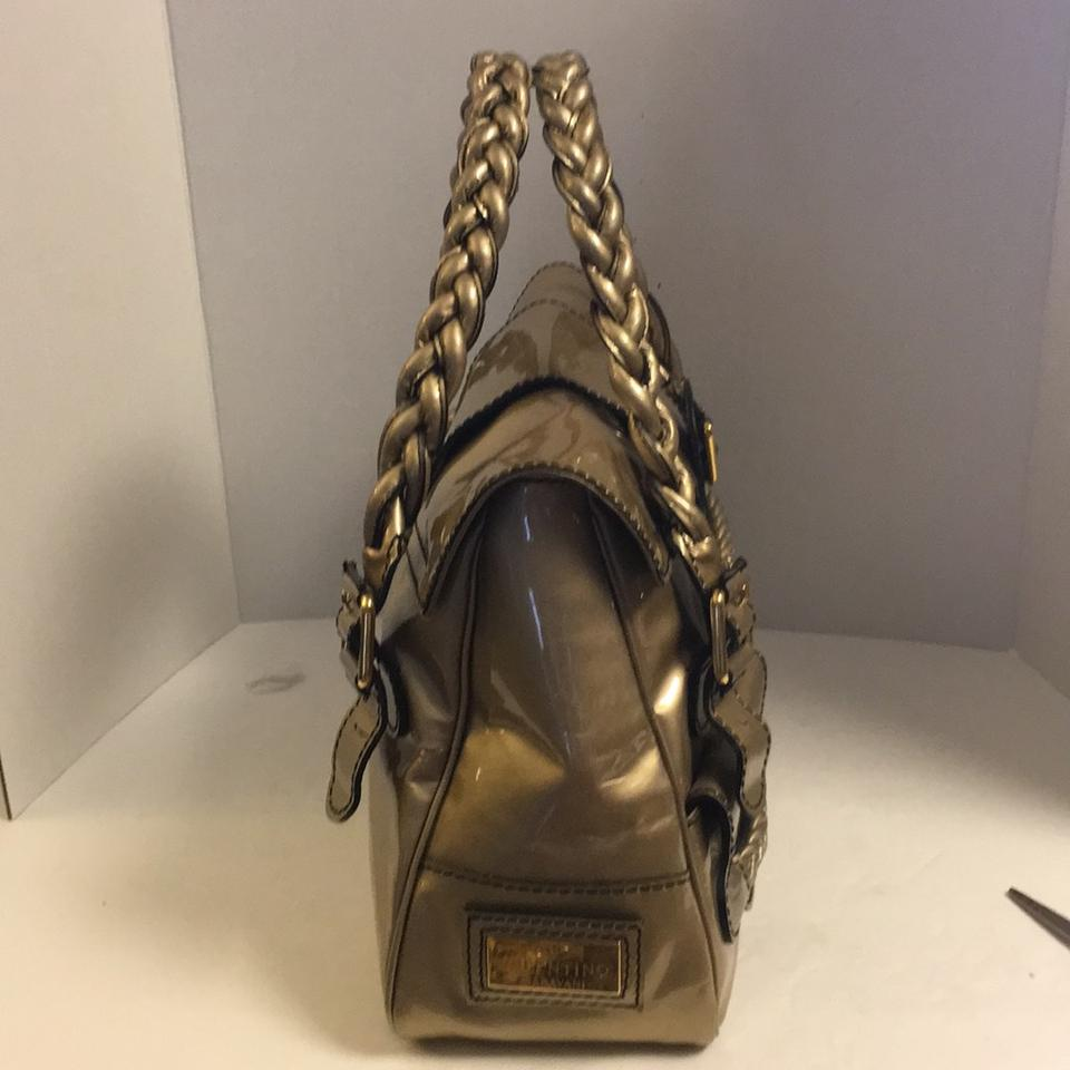 5f04f40c574 Valentino Histoire Braided Gold Patent Leather Satchel - Tradesy