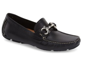 Salvatore Ferragamo Parigi Moccasin Driver Loafers Black Flats
