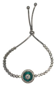 CasaDiBling The protected collection: green Murano glass, evil eye tennis bracelet
