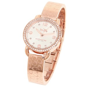 Coach Coach Delancey 14502355 Rose Gold Stainless Signature Bangle Watch