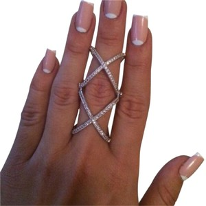Casa Di Bling The X factor adjustable full finger knuckle ring