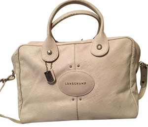 Longchamp Satchel in off white