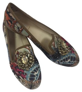 Nine West Longshot printed satin flats multi Flats