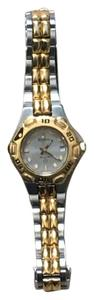 Bulova Bulova Gold/Stainless Steel 2 Tone Watch W/Luminous Hands and Dial.