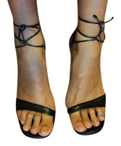 Charles Kammer Leather Chic Vintage Black Sandals