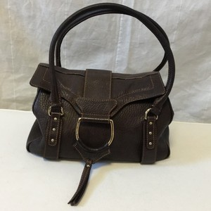 Dolce&Gabbana Satchel in Brown pebbled leather
