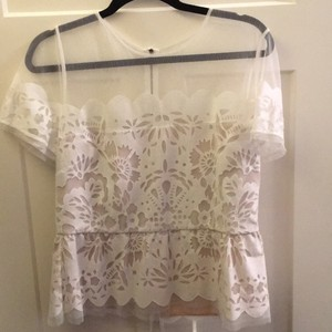 BCBGMAXAZRIA Top white and nude