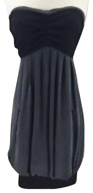 Item - Black & Grey Strapless Bubble Short Night Out Dress Size 4 (S)