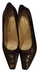 Chanel Cc Chocolate Brown Pumps