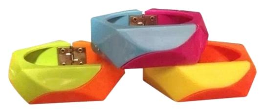 Other Vintage Bangles (all 3) Two Tone Block Design