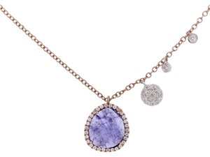 Meira T Meira T 14k Rose Gold 0.27ctw Diamond & Tanzanite Pendant Necklace