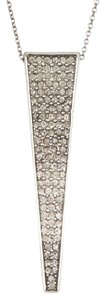 House of Harlow 1960 House of Harlow 1960 Pave Crystal Kinetic Pendant Necklace Silver