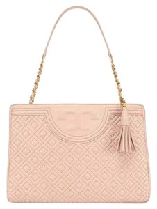 Tory Burch Black Tote in pink