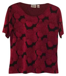 Chico's Top Red and Black