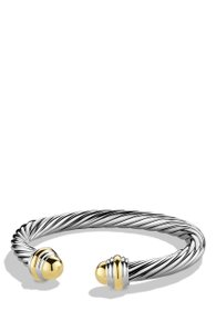David Yurman David Yurman 7MM Gold Dome Cable Bracelet