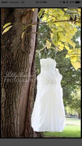 David's Bridal Strapless Off White Wedding Gown Wedding Dress