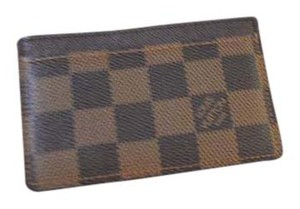 Louis Vuitton Louis Vuitton DE Damier Ebene Simple Card Case EXCELLENT CONDITION