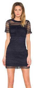 Lucy Paris Navy Lace Lucy Embroidered Dress
