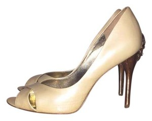Marciano Heels Bejeweled Open Toe Gold Formal