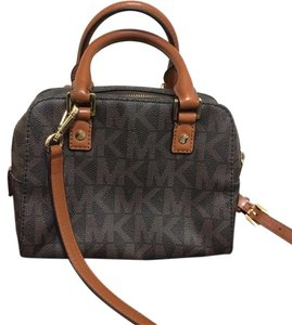 Michael Kors Leather Mk Signature Cross Body Bag
