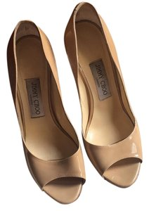 Jimmy Choo nude/gold Wedges