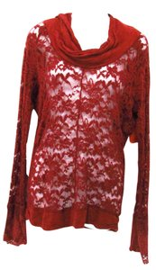 Lilka Knit Lace Top Burnt Orange