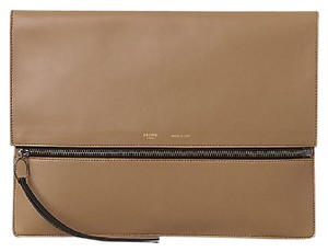 Céline beige, black Clutch
