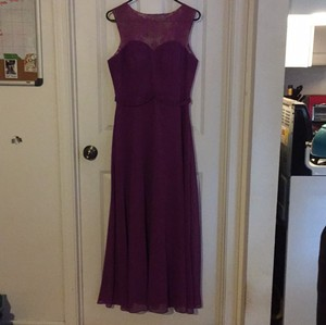 Maroon With Purple Lace Heart Cutout Bridesmaids Dress Dress
