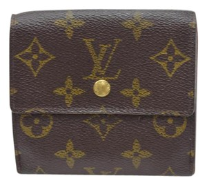 Louis Vuitton Louis Vuitton Brown Porte-Monnaie Billets Cartes Snap Wallet