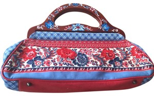 Isabella Fiore Red , White & Blue Clutch