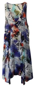 Leifsdottir short dress Blue, white, red, purple Silk Anthropologie Summer on Tradesy