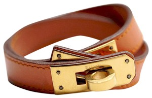 Hermès Hermés Kelly Double Tour Bracelet Gold HW Epsom Calfskin Leather