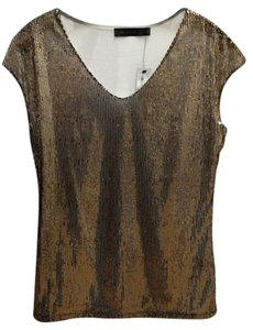 The Limited Top Bronze sequin front with ivory back